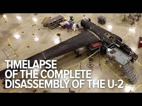 Time-lapse of the disassembly of an entire U-2 spy plane
