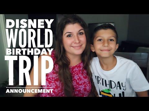 Walt Disney World Trip Announcement