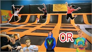 asking people at Urban Air Trampoline park if there LOGANGSTERS OR JAKEPAULERS!!!