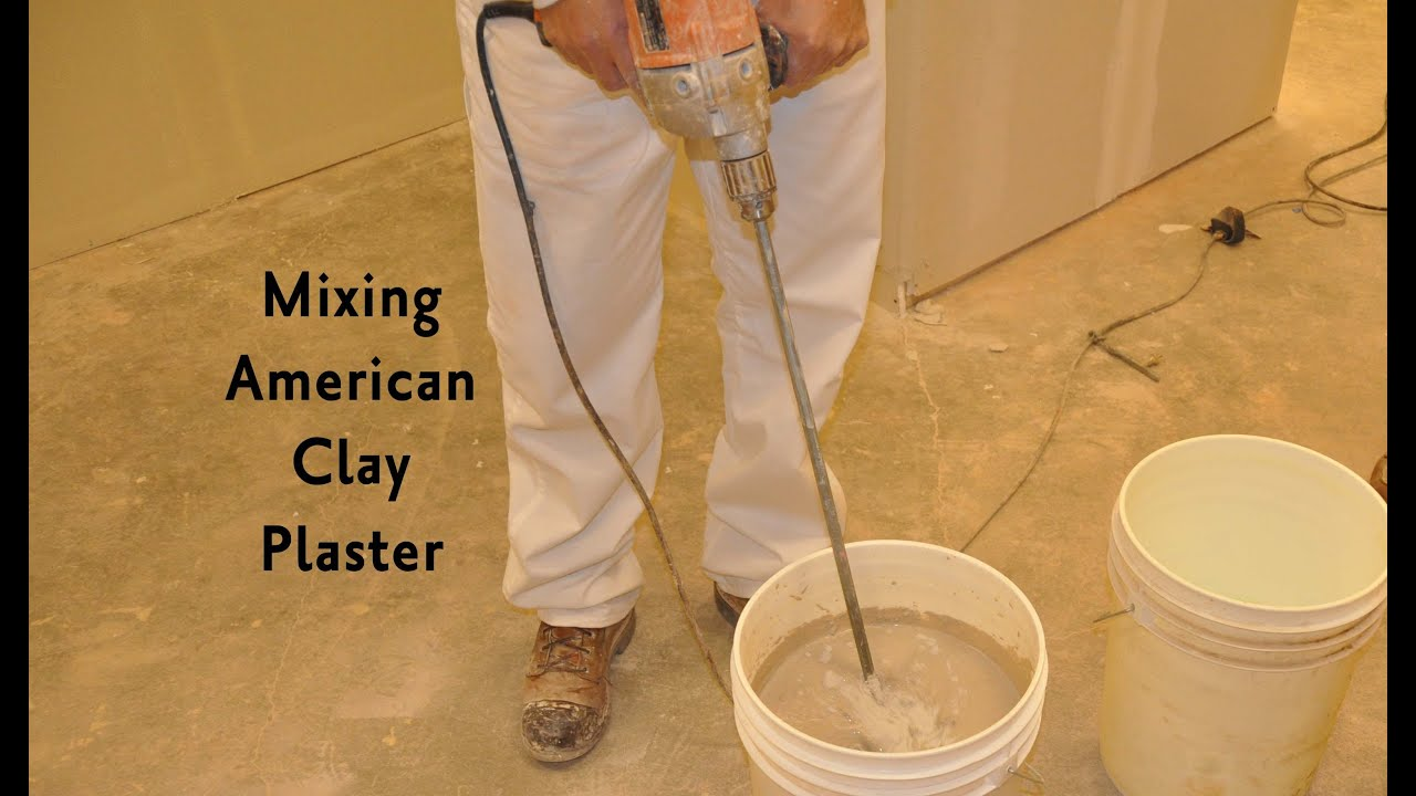 How to make clay plaster - Mixing American Clay Plaster