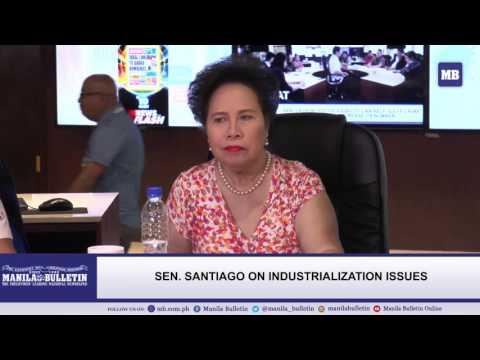 Sen. Santiago on easing Metro Manila traffic and industrialization issues