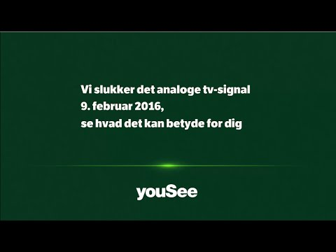 Rørig Analog tv-signal sluk 9. februar 2016 - YouTube RS-04