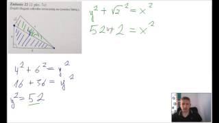 Twierdzenie Pitagorasa - Znajdź długość odcinka x.