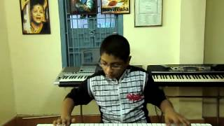 new telugu song cinema choopista mama from resugurram on keyboard by p.v.satyanarayana