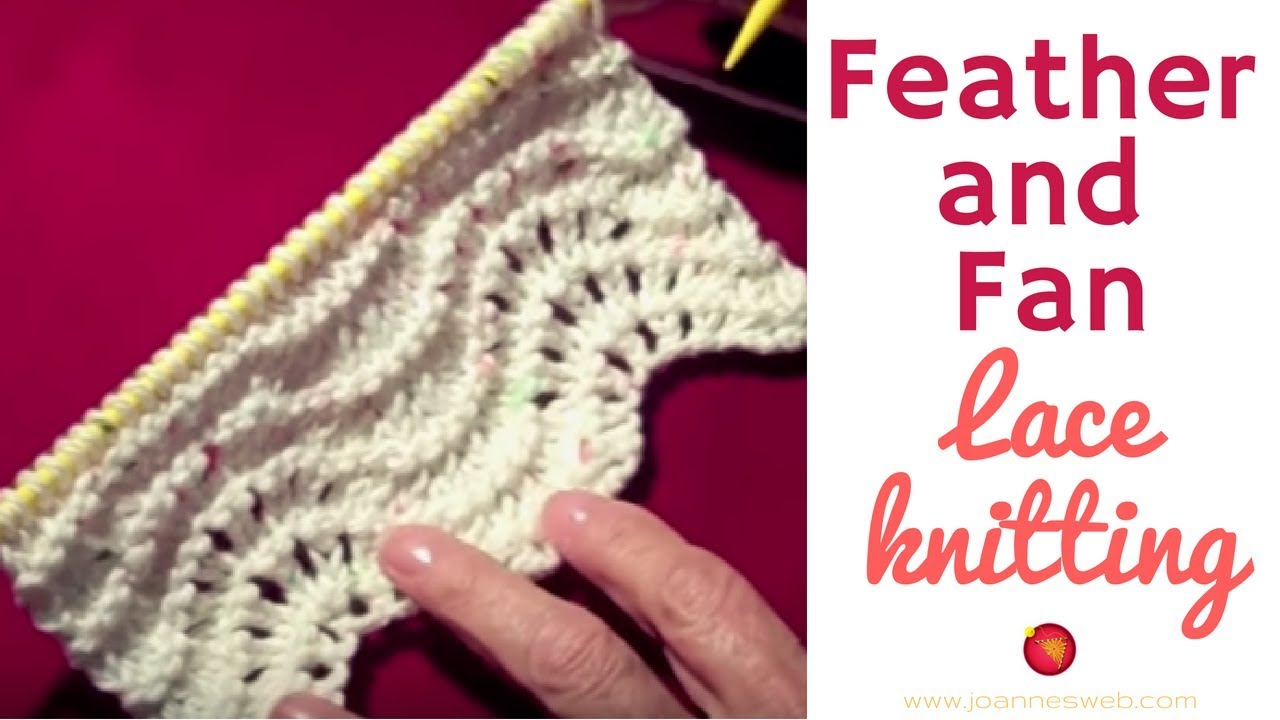 Feather and Fan Stitch Lace Pattern - YouTube