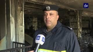 حريق يلتهم أجزاء واسعة من مجمع تجاري في ضاحية الرشيد - (12-7-2019)