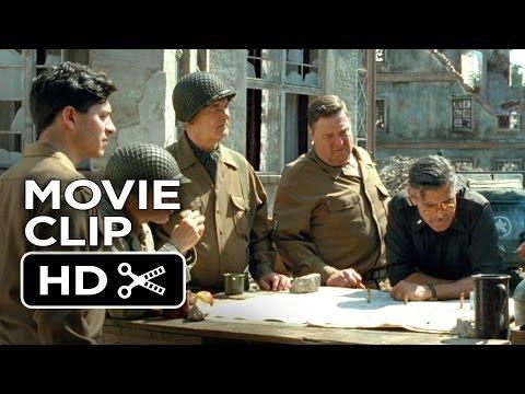 The Monuments Men Movie CLIP - Map To Siegan (2014) - John Goodman Movie HD