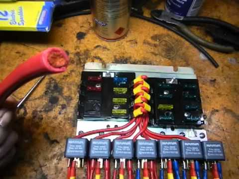 hqdefault w108 new fuse, relay panel youtube universal waterproof fuse relay box panel at bakdesigns.co