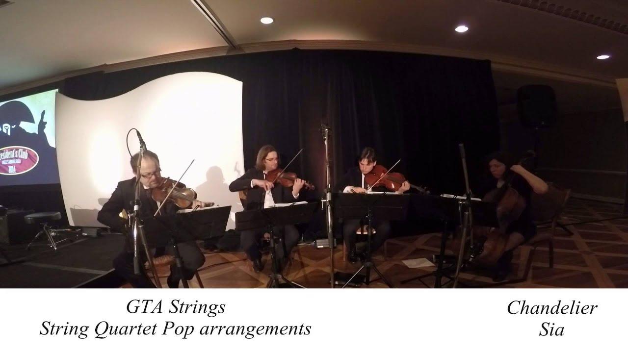 Chandelier - Sia - String Quartet COVER - YouTube