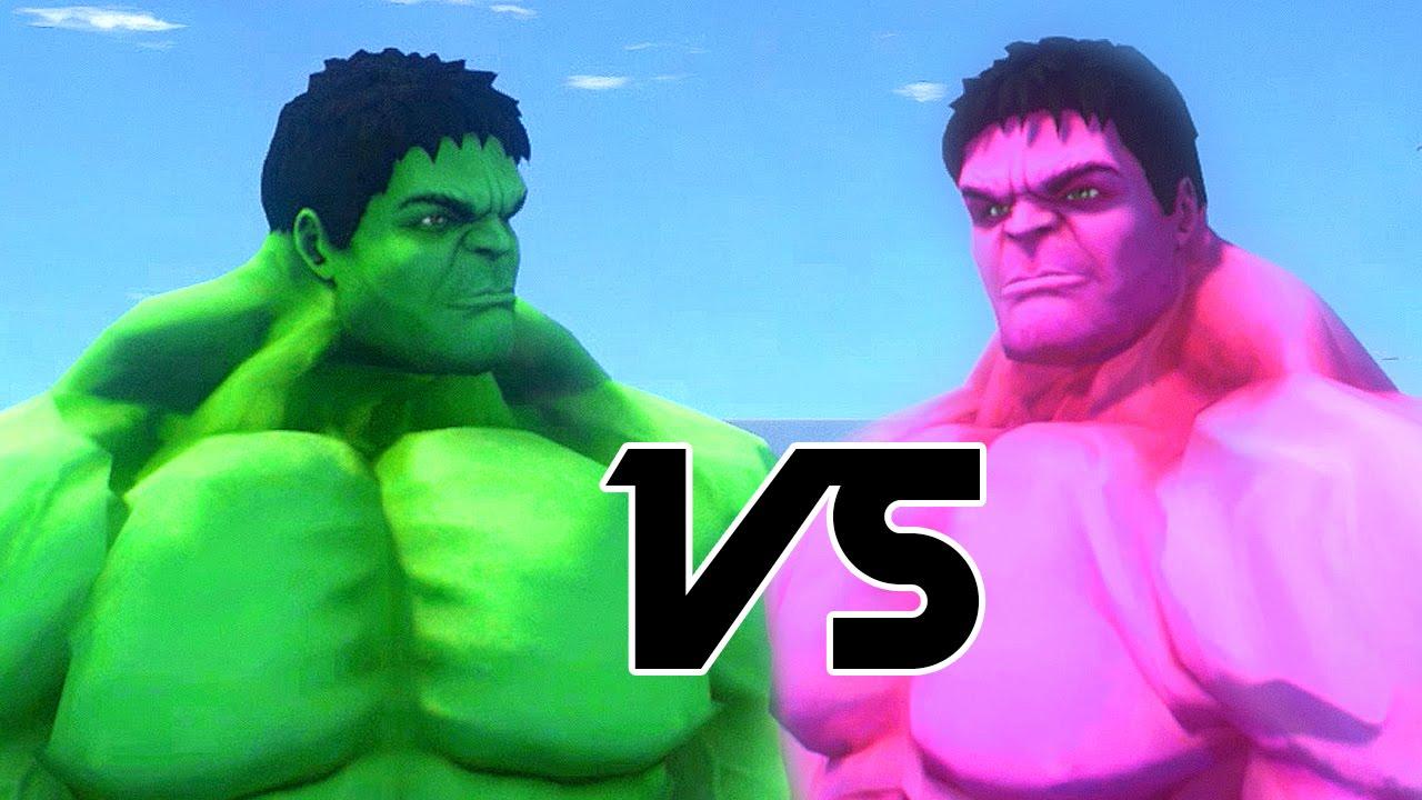 pink hulk vs hulk gta iv youtube