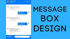 How To Make Message Box Using HTML And CSS | Messenger Design In HTML CSS