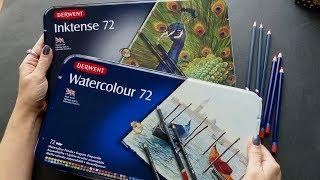 какие карандаши лучше? DERWENT акварельные или INKTENSE? Сравнительный обзор