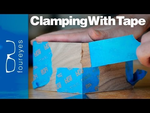 How To Clamp Using Tape – Woodworking Tips