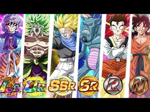 FULL EVOLUTION OF RARITY TEAM!! N, R, SR, SSR, UR, LR!! - DBZ Dokkan Battle