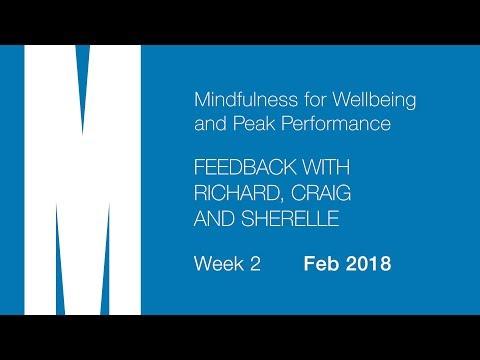 Feedback from Richard, Craig and Sherelle - Week 2 - Feb 2018