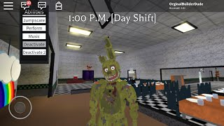Roblox Fredbear and Friends Family Resturant- SpringTrap