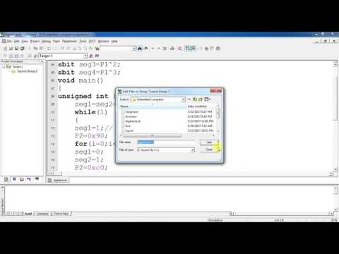 Digital clock design b using Multiple 7 segment Embedded C program by using Keil and Proteus