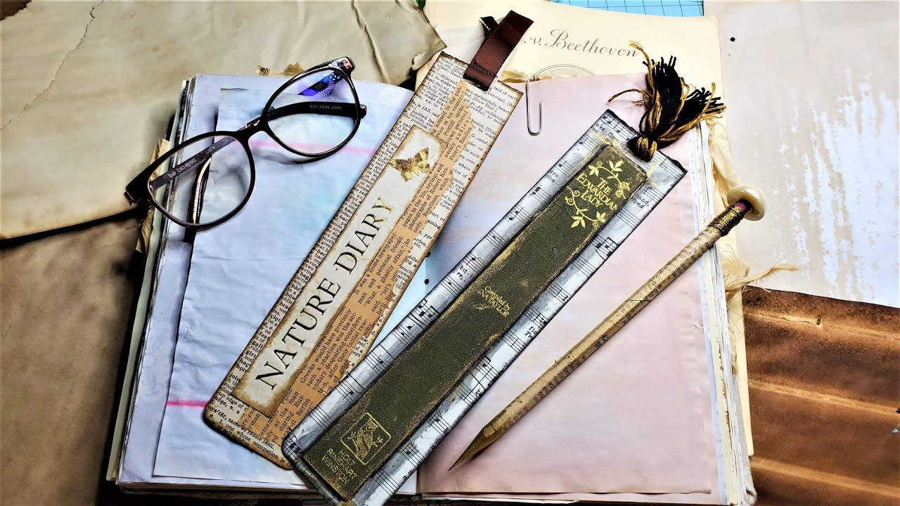 BEAUTIFUL BOOK MARKS From Cereal Boxes, Book Pages & Book Spines! JUNK JOURNAL IDEAS!  Paper Outpost