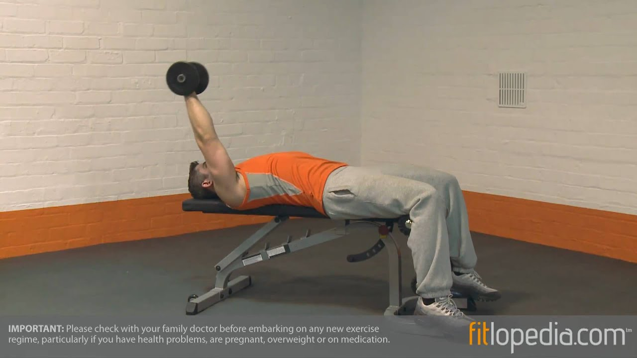 Lying Down Single Arm Dumbbell Pullover - YouTube