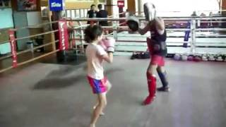 9 Year Old Girl Kick-boxer Can Kick Some Ass!