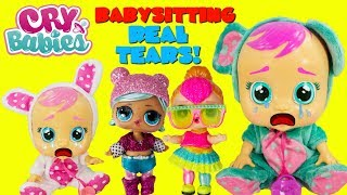 CRY BABIES Dolls LOL Surprise Glam Glitters Babysitting Baby Cries Real Tears
