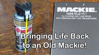 Using DeoxIT to bring back life to an old Mackie 1604-VLZ-Pro