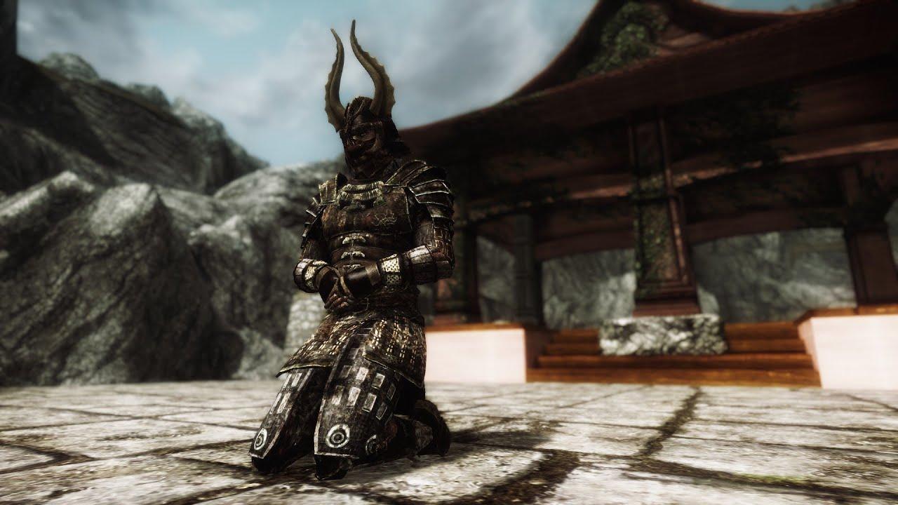 Skyrim Mods Akaviri Samurai Armor Dual Sheath Plus Shields On