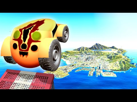 Jumping SCP CARS Across GTA 5! (Impossible)