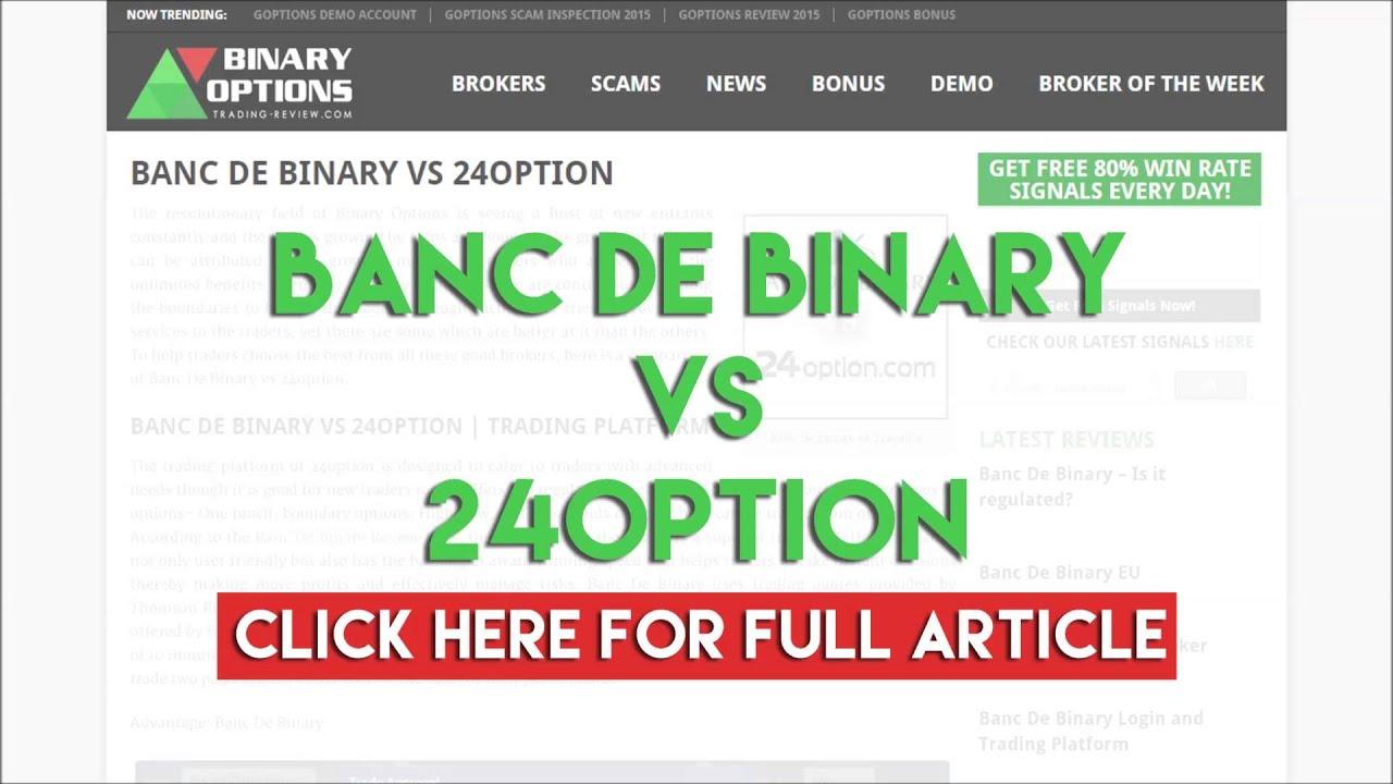 Banc De Binary Vs 24option Youtube