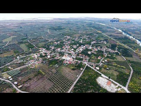 Το Μαρτυρικό χωρίο Κομμένο Άρτας απο ψηλά - Martyr village Kommeno Artas drone flight