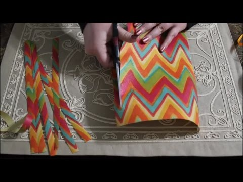 ASMR Present Wrapping w/Hand Made Bow ~ No Placemat Scratching