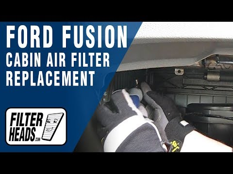 How To Replace Cabin Air Filter 2010 Ford Fusion Youtube