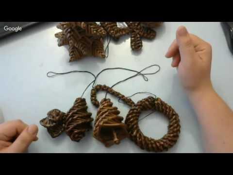 Часть вводная. Плетение елочных игрушек из газетных трубочек. Запись интенсива.