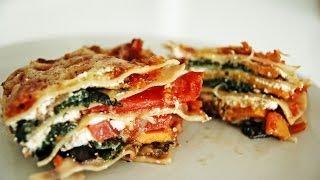 Receta De Lasagna De Vegetales Asados / Roasted Vegetable Lasagna