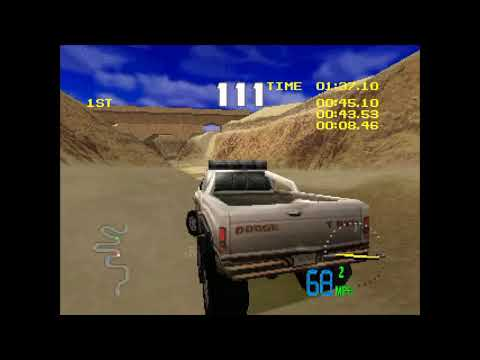 Test Drive Off-Road 3 PS1 Gameplay - Dodge T-Rex