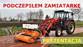 Jak Działa Zamiatarka TALEX / Zetor 7211/ Testujemy - Rolnik Szuka Maszyny (Testy / Prezentacja)
