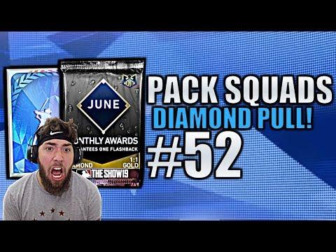 POTM PACK & DIAMOND PULL! Pack Squads #52 MLB The Show 19!