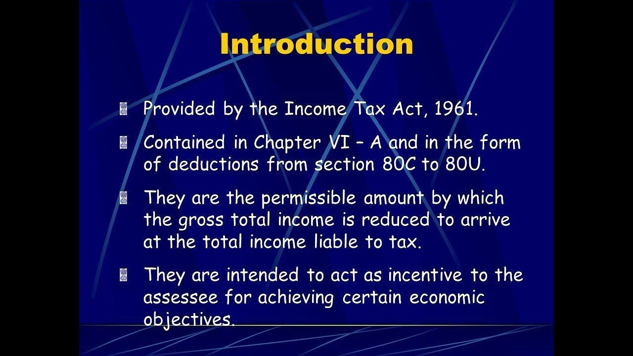 DEDUCTION UNDER SECTION 80C TO 80U PDF