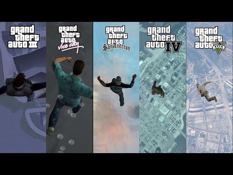 GTA Falling From Sky Comparison - GTA 3, Vice City, San Andreas, IV & V