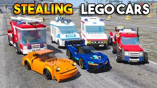 Stealing AWESOME LEGO CARS in GTA 5