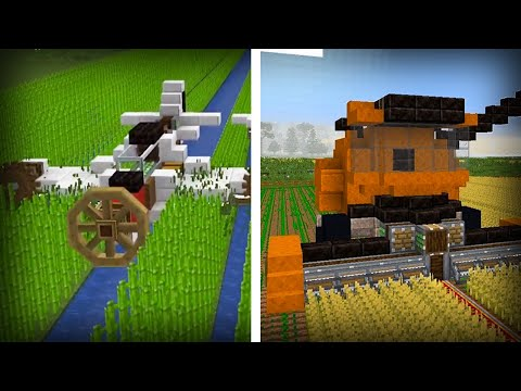13 Amazing Create Mod Creations in Minecraft ( Vehicles & Parkour )