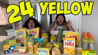 24 HOURS EATING ONLY YELLOW FOOD CHALLENGE