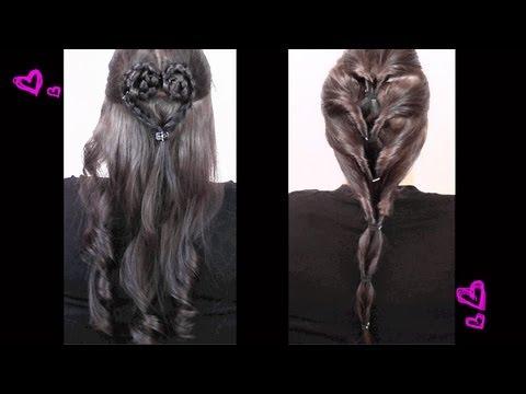 2 Frisuren Herzfrisur Und Alltags Loop Youtube