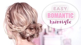 Super easy updo hairstyle ❤ Medium long hair tutorial for prom/wedding