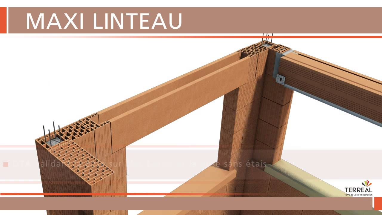 terreal structure pose de maxi linteau youtube. Black Bedroom Furniture Sets. Home Design Ideas