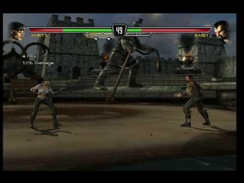 Mortal Kombat vs DC Universe. Sonya Blade vs Kano XBOX 360 PS 3