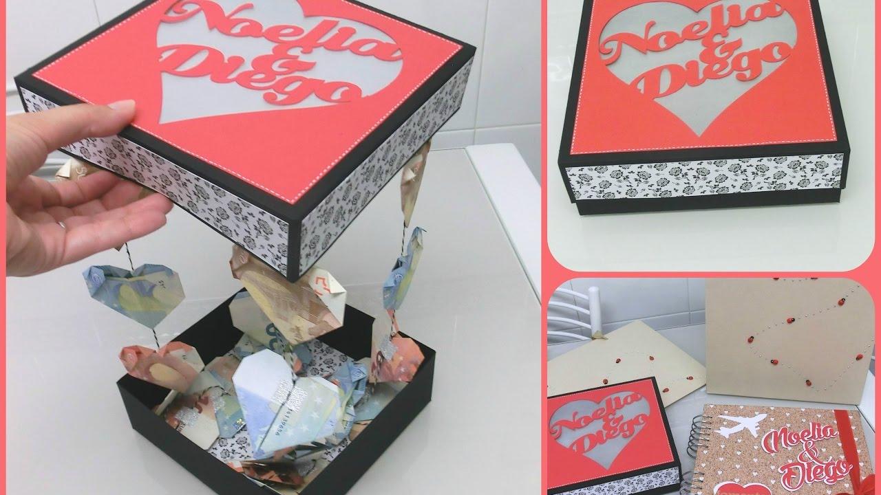 Caja para dar dinero en una boda de forma original - Ideas para regalar a un padre ...