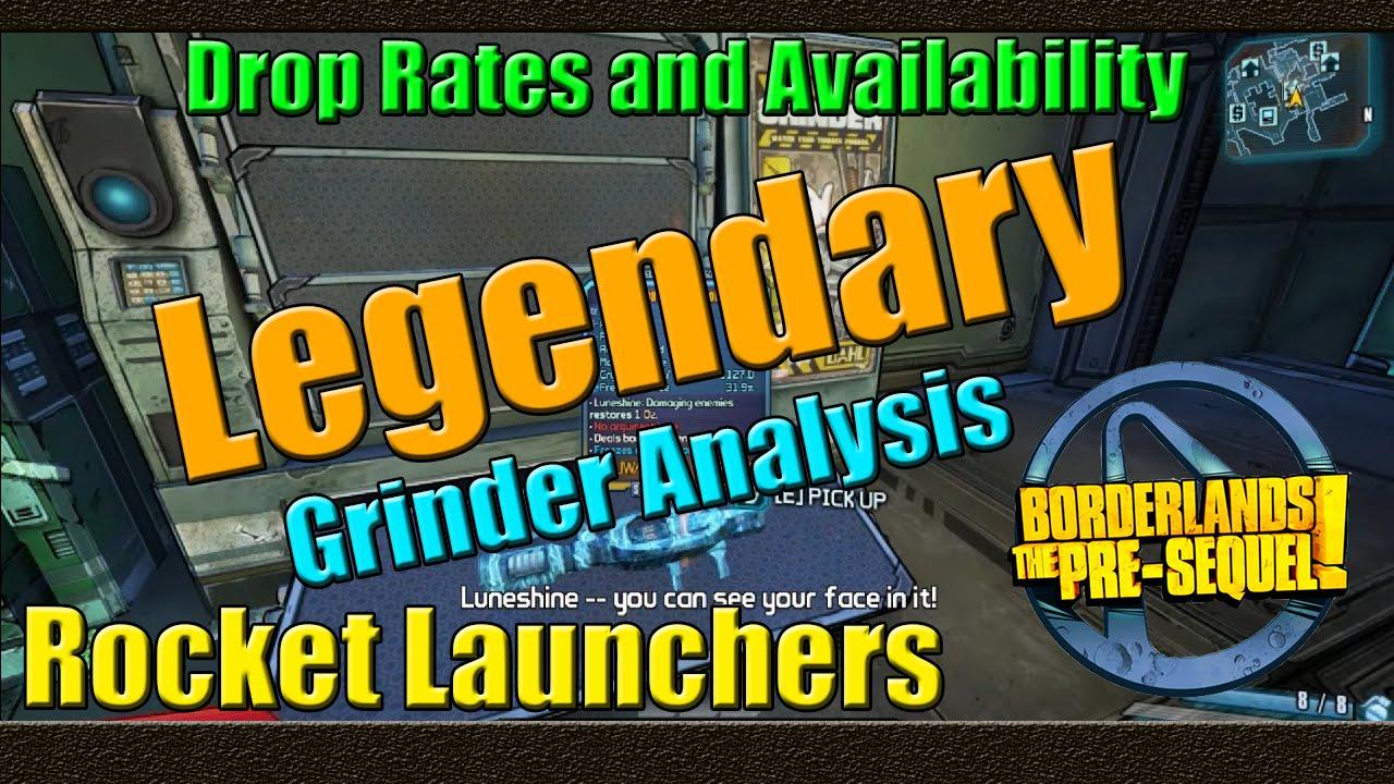 Borderlands the pre sequel grinder analysis legendary rocket