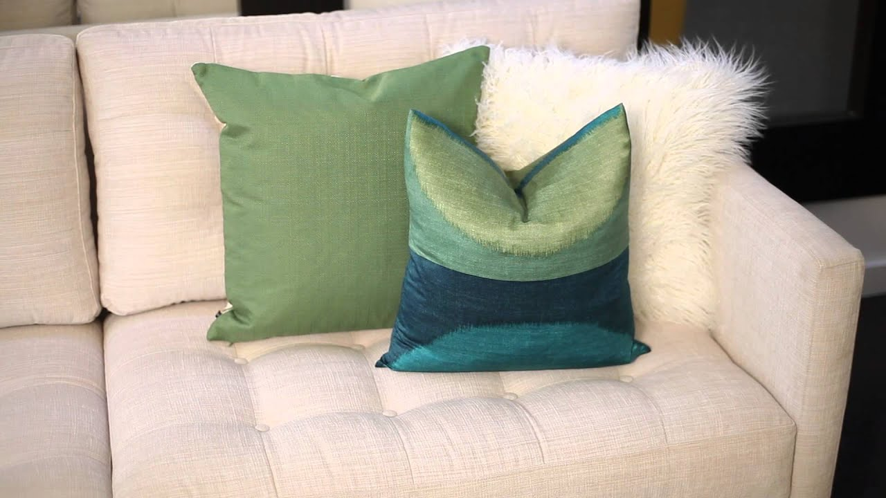 Throw Pillow Decorating Ideas : How to Decorate With a White Sofa & Colorful Throw Pillows : Design Ingredients - YouTube