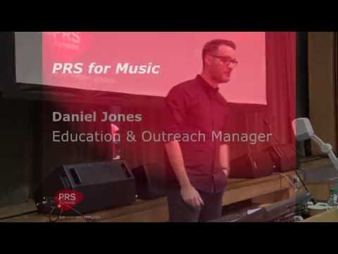Daniel Jones from PRS for Music - Royalties